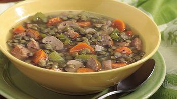 Lentil-Sausage-Vegetable Soup
