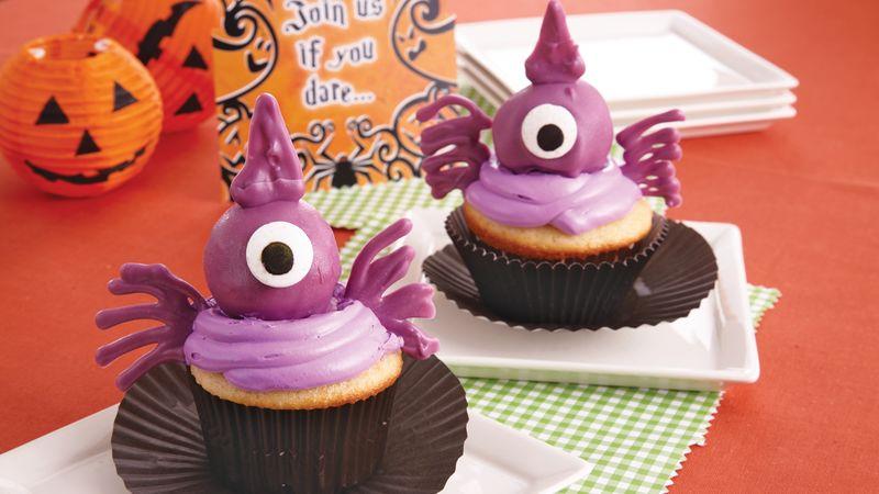Halloween Goblin Cupcakes