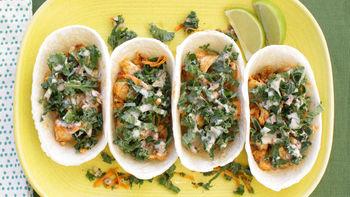 Tilapia and Kale Ten Minute Taco Boats
