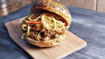Slow-Cooker BBQ Pulled Chicken Sandwich