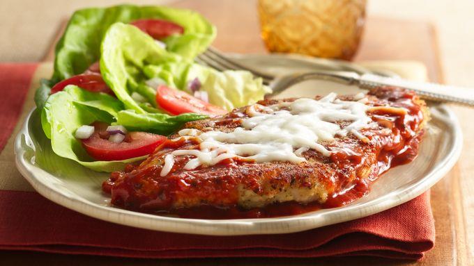 Hearty Tomato Skillet Chicken Parmigiana
