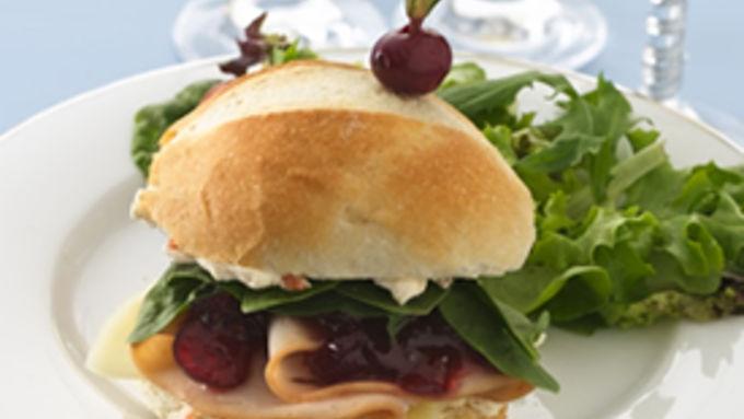 Turkey-Cranberry Petite Sandwiches