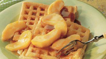 Caramel Apple-Topped Waffles