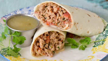 Ground Chicken Burrito