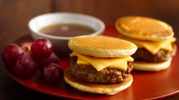Silver Dollar Pancake and Sausage Sandwiches