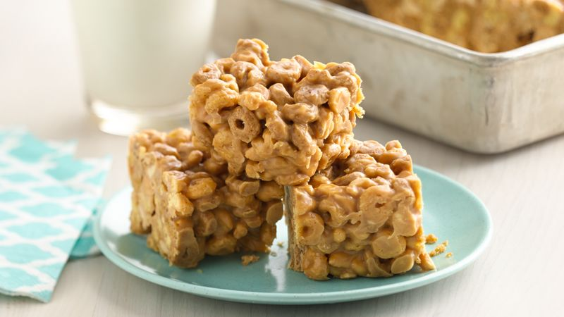 No-Bake Peanut Butter-Cereal Bars