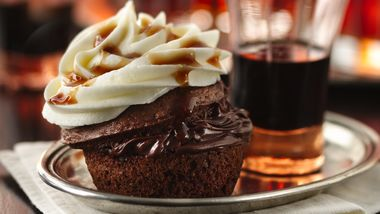 Boozy Bourbon Chocolate Cupcakes