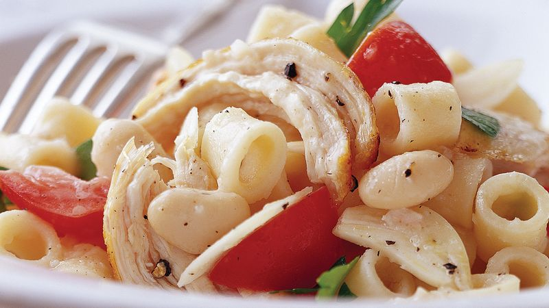 Skinny Chicken Pasta Toss