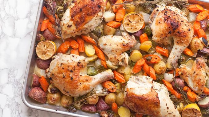 Sheet Pan Lemon Chicken and Vegetables