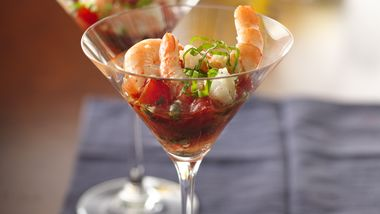 Shrimp and Tomato Martinis