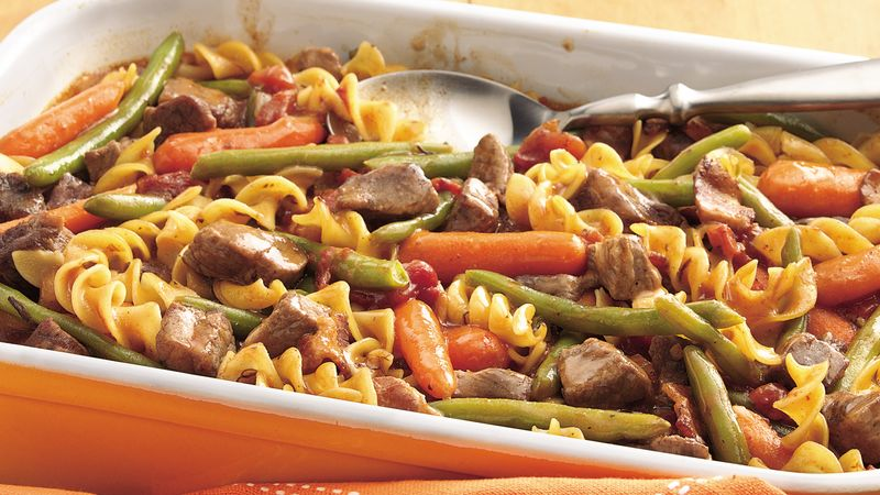 Beef, Bacon and Noodle Bake