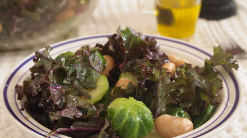 Kale, Brussels Sprouts and Butter Bean Salad