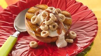 Cinnamony-Stuffed Grilled Peaches