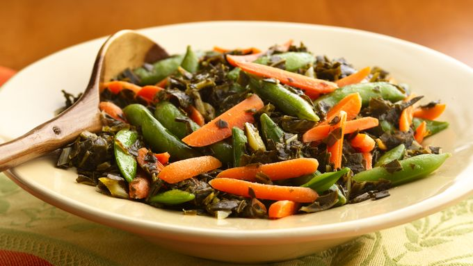 Pea Pods and Greens Medley