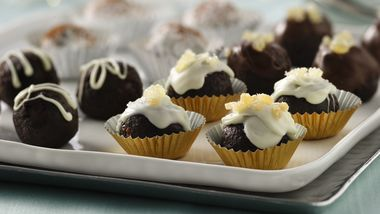Bourbon-Spiked Ginger Brownie Truffle Balls