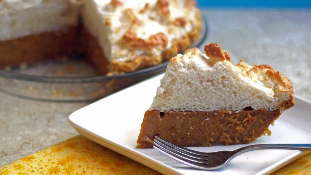 Sweet Potato Pie with Maple Meringue