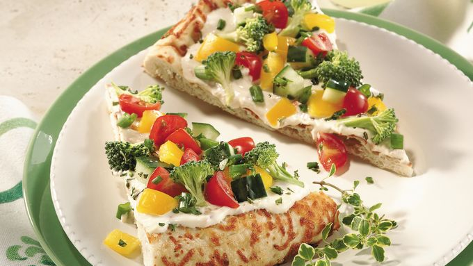 Easy Cool Vegetable Pizza