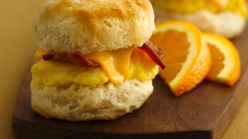 Mini Biscuit Breakfast Sandwiches