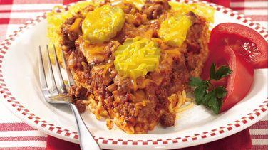 Cheeseburger Spaghetti Pie