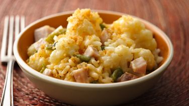 Cauliflower, Poblano and Ham Gratin