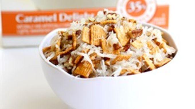 Coconut Caramel Casserole Crunch Topping