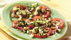 Ensalada de tomate fresco y pepino