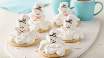 Melting PEEPS® Snowmen Cookies
