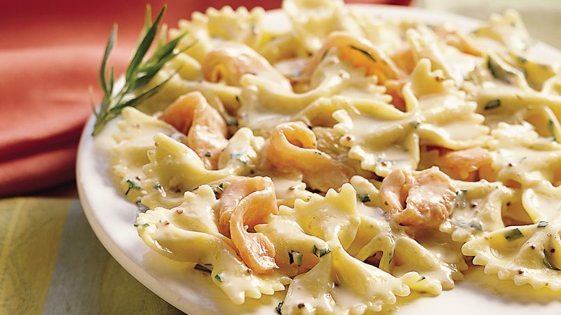 Bow-Ties with Salmon and Tarragon Mustard Sauce
