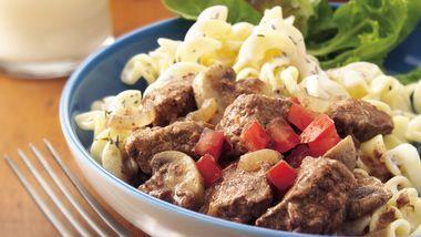 Slow-Cooker Herbed Beef Stroganoff