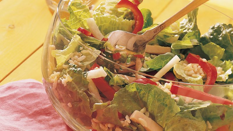 Turkey, Rice and Romaine Salad recipe from Betty Crocker