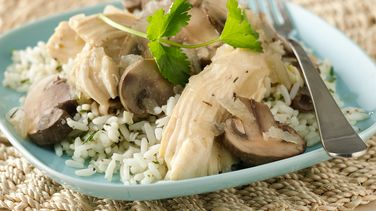 Slow-Cooker Chicken with Mushrooms