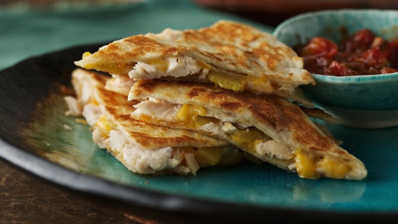 Chicken-Chile Quesadillas