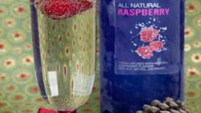Raspberry Vodka Champagne Cocktail