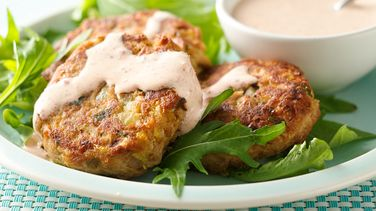 Tuna Patties with Chipotle Cream Sauce
