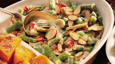 Green Bean-Mushroom Alfredo
