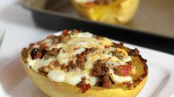 Calabaza Espagueti Rellena con Carne Molida