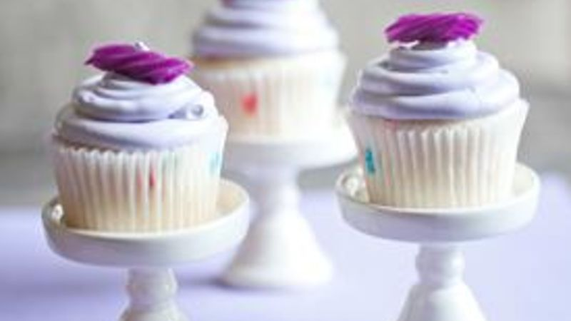 Lavender Colored Cupcakes