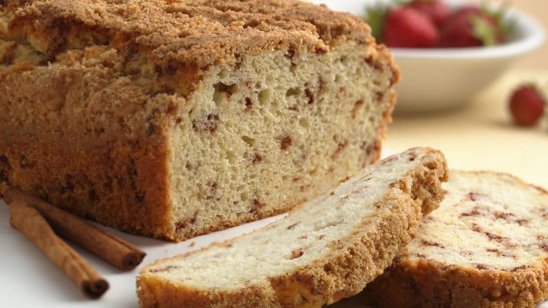 Cinnamon Streusel Quick Bread