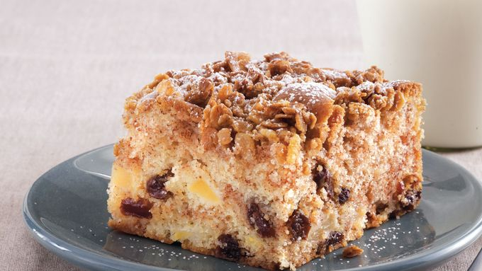 Apple-Raisin-Granola Coffee Cake