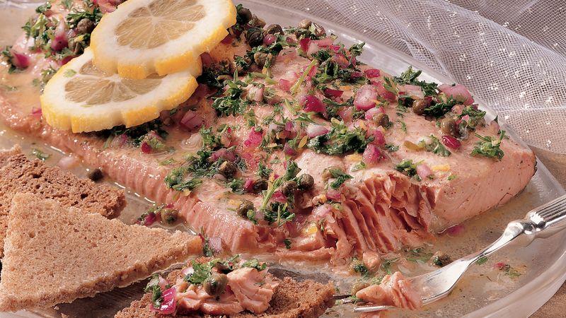 Poached Salmon Appetizer