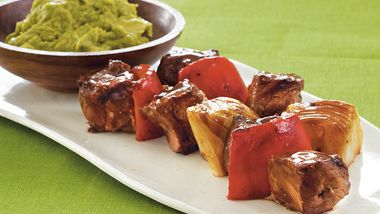 Steak Kabobs with Guacamole Dip