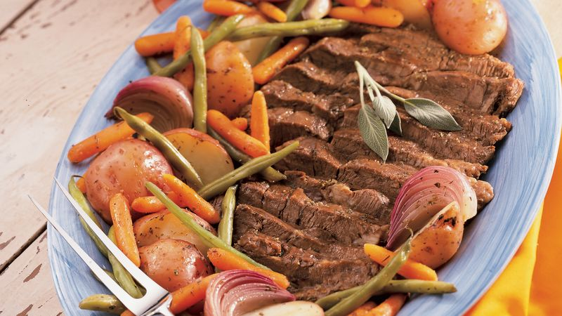 Beef Pot Roast with Vegetables And Herbs