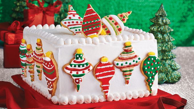 Christmas Ornament Cake