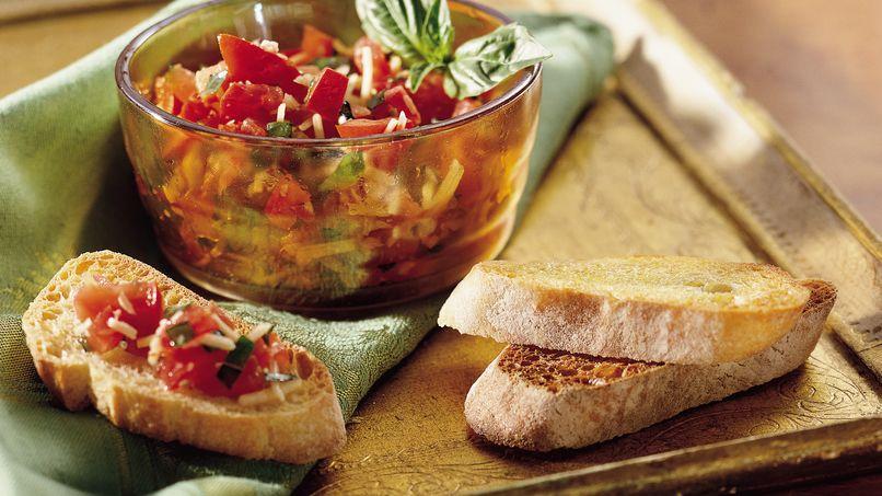 Crostini de Tomate y Albahaca