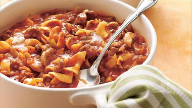 Saucy Ground Beef and Noodles
