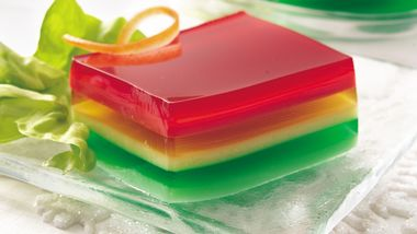 Yogurt-Gelatin Ribbon Salad