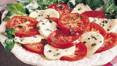 Garlic-Basil Tomatoes with Mozzarella