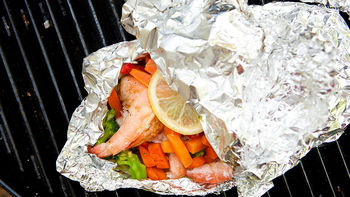 Shrimp and Veggie Foil Pack