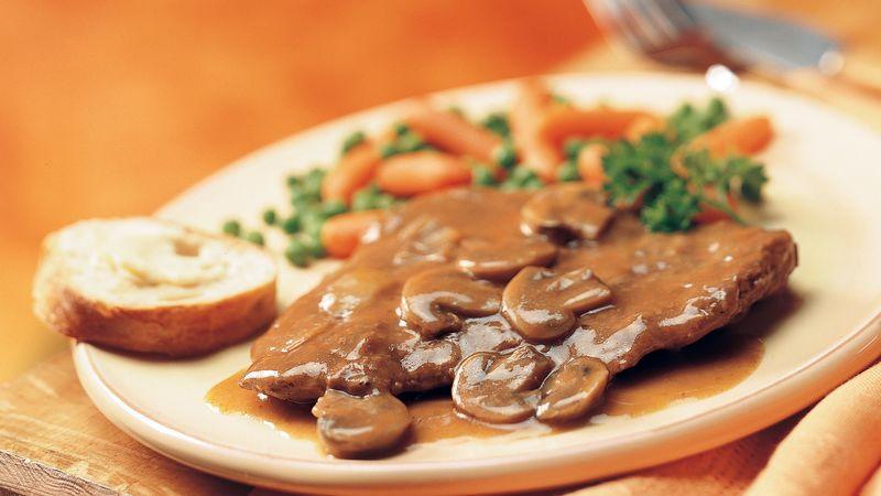 Slow-Cooker Swiss Steak and Gravy