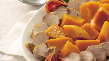 Slow-Cooker Orange Pork Tenderloin with Butternut Squash